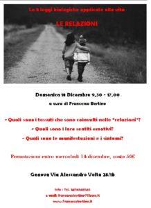 Osteopata Francesco Bertino | Genova | Corso sulle 5 leggi biologiche