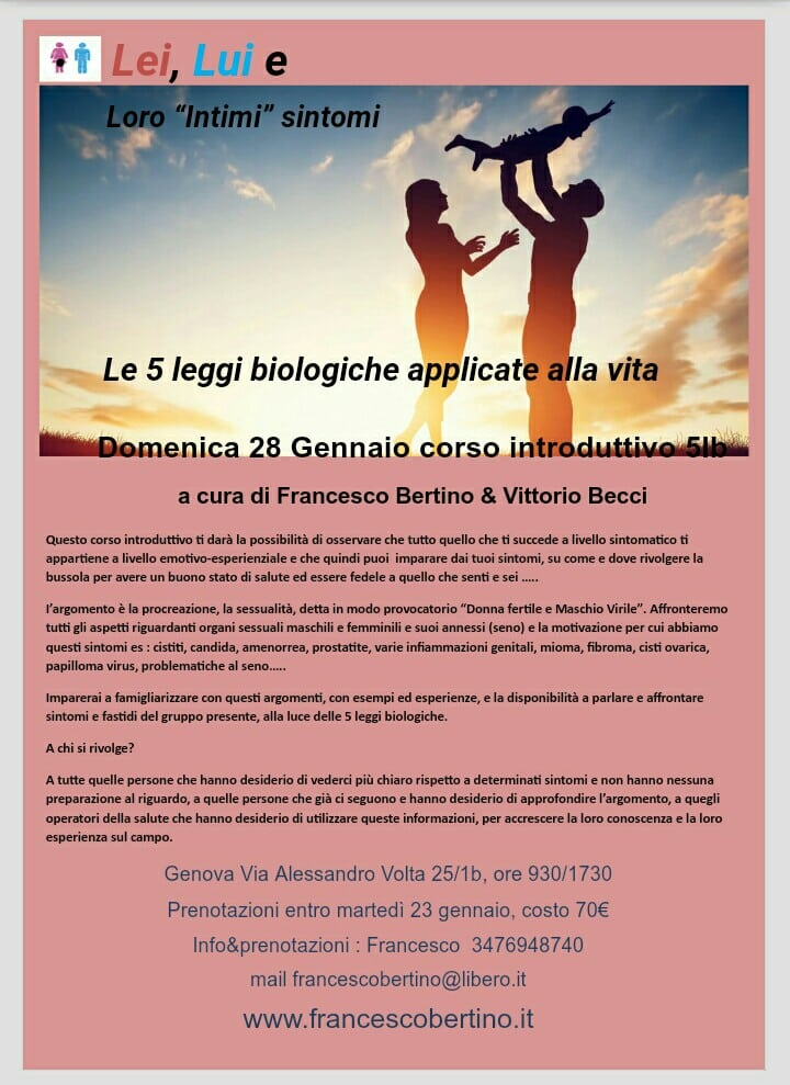 Osteopata a Genova Francesco Bertino | 5 leggi biologiche, massofisioterapia, qi-gong