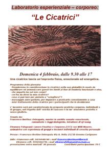 Laboratorio esperienziale – corporeo Le Cicatrici